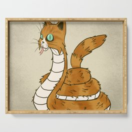 Cat Snake Serving Tray