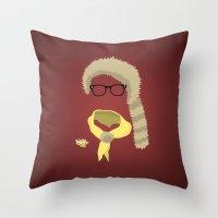sam smith Throw Pillows featuring Sam by John McKeever