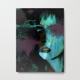 turquoise girl 2 Metal Print