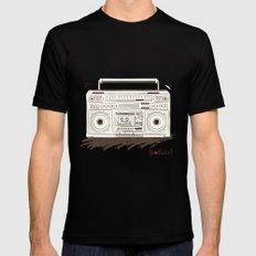 I {❤} RADIO Black MEDIUM Mens Fitted Tee