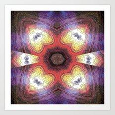 Internal Kaleidoscopic Daze- 7 Art Print