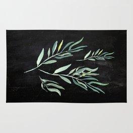 Eucalyptus Branches On Chalkboard II Rug
