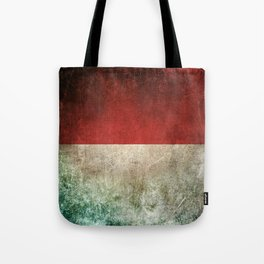 Old and Worn Distressed Vintage Flag of Indonesia Tote Bag