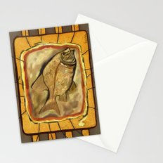 Fossil fish Stationery Cards