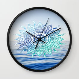 Sea Mandalla Wall Clock