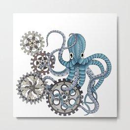 Miss. Octopus Metal Print
