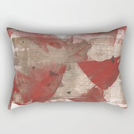 Brown red angular watercolor Rectangular Pillow