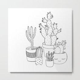 Oh My! Cacti Metal Print