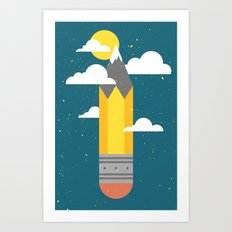 Mountains at My Fingertips Art Print
