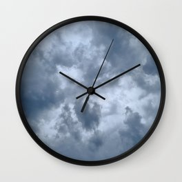 Fifty Shades of Grey Clouds | Nature Photography Wall Clock