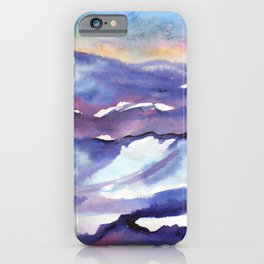 Snow covered mountain ranges iPhone Case