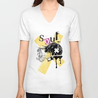 soul V-neck T-shirts featuring Soul by Tshirt-Factory