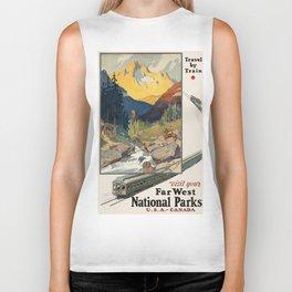 Vintage poster - National parks Biker Tank
