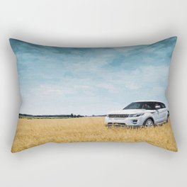 Abandoned Car Art Evoque in field Rectangular Pillow