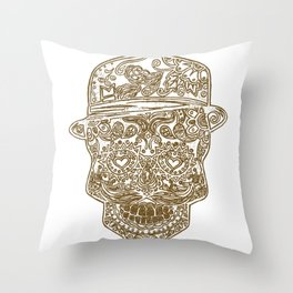 Dia De Los Muertos Sugar Skull Throw Pillow