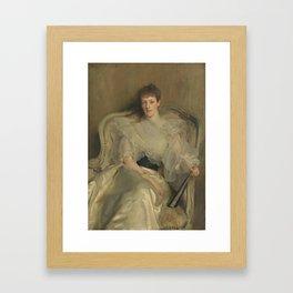 John Singer Sargent 1856–1925   Jean, Wife of Colonel Ian Hamilton Framed Art Print