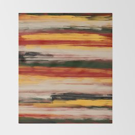 Fall Abstract Throw Blanket