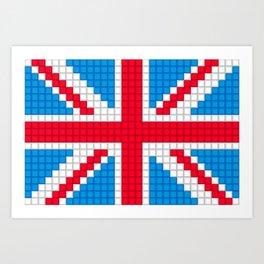 Union Jack by Qixel Art Print