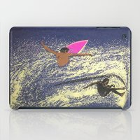 surfing iPad Cases featuring SURFING by aztosaha