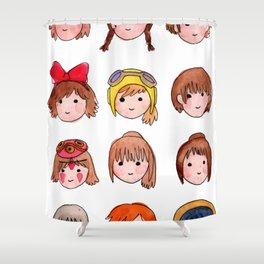 Studio Ghibli Girls Shower Curtain