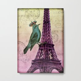 Parisien Bird Metal Print