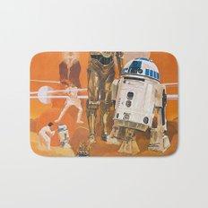 Star R2-D2 C-3PO Wars Bath Mat