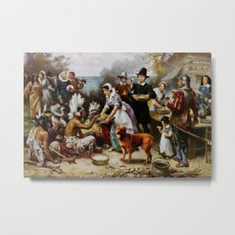 The First T. Hanksgiving Metal Print