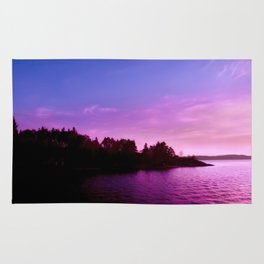 Northern Lights at Sunset Rug