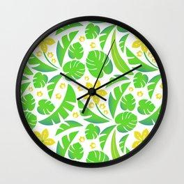 PERROQUET FLOWERS Wall Clock