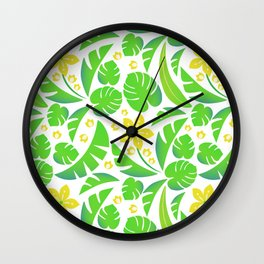 PERROQUET FLOWERS Wall Clock
