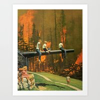 Playing with fire... Art Print