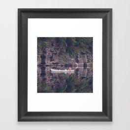 Fishing on the Delaware River - Debra Cortese photo art Framed Art Print