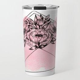 Mailed With Love Pink Travel Mug