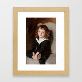 """John Singer Sargent """"Portrait of Laurence Millet"""" Framed Art Print"""