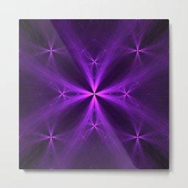 Purple Swag Metal Print