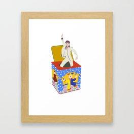 disco in the box Framed Art Print
