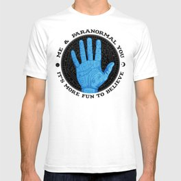 Me & Paranormal You - James Roper Design - Palmistry (black lettering) T-shirt