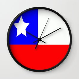 Flag of Chile Wall Clock
