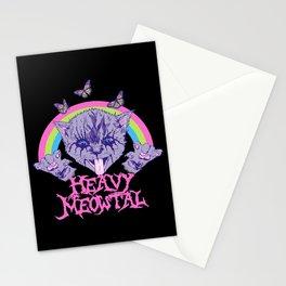 Heavy Meowtal Stationery Cards