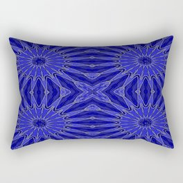 Blue pinwheel Flowers Rectangular Pillow
