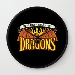 More Dragons Wall Clock