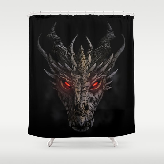 Red Eyed Dragon Shower Curtain By Sonqblack