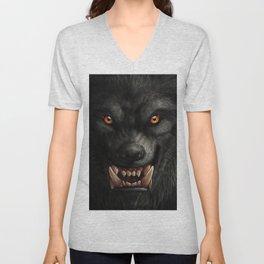 Halloween, Werewolf, Creepy, Horror Art Unisex V-Neck