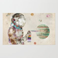 space graffiti Rug
