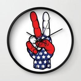 Peace Out, USA! Wall Clock