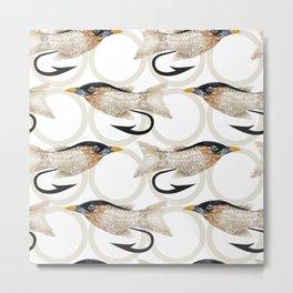 Fly Fishing Lure Metal Print