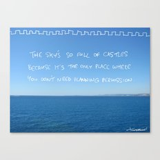 castles in the sky need no planning permission Canvas Print
