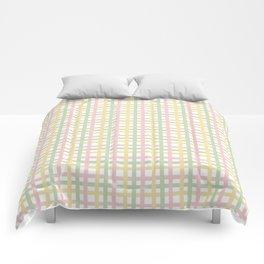 Pastel Color Gingham Tartan Seamless Pattern Comforters