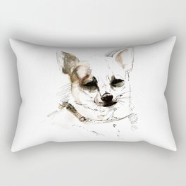 Chihuahua on Watercolor (TOPOS) Rectangular Pillow