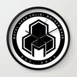 Mother Base Logo  Wall Clock